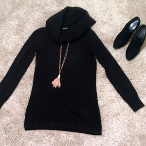 French Connection Black Sweater Dress S